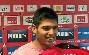 Romero et son nouveau maillot.
