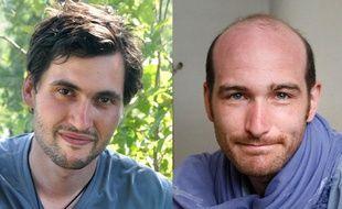 Pierre Torres et Nicolas Hénin, deux journalistes français retenus en otages depuis le 22 juin 2013.
