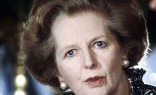 Photo d'archives du 27 mai 1986 de la Première ministre britannique, Margaret Thatcher, lors de sa visite à Jérusalem, en Israël.