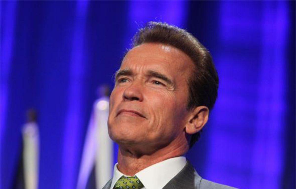 Le gouverneur de Californie, Arnold Schwarzenegger, lors du Deuxième sommet des Gouverneurs pour le climat, à Los Angeles, le 30 septembre 2009. – KENNELL KRISTA/SIPA