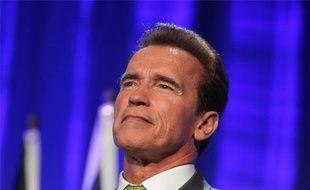 Le gouverneur de Californie, Arnold Schwarzenegger, lors du Deuxième sommet des Gouverneurs pour le climat, à Los Angeles, le 30 septembre 2009.