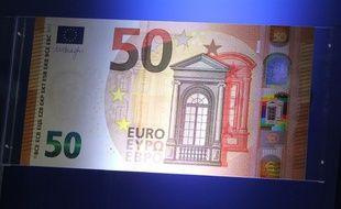 Le nouveau billet de 50 euros sera mis en circulation au printemps 2017