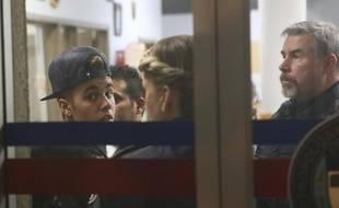 Justin Bieber à son arrivée au commissariat de police de Toronto, au Canada, mercredi 29 janvier 2014.