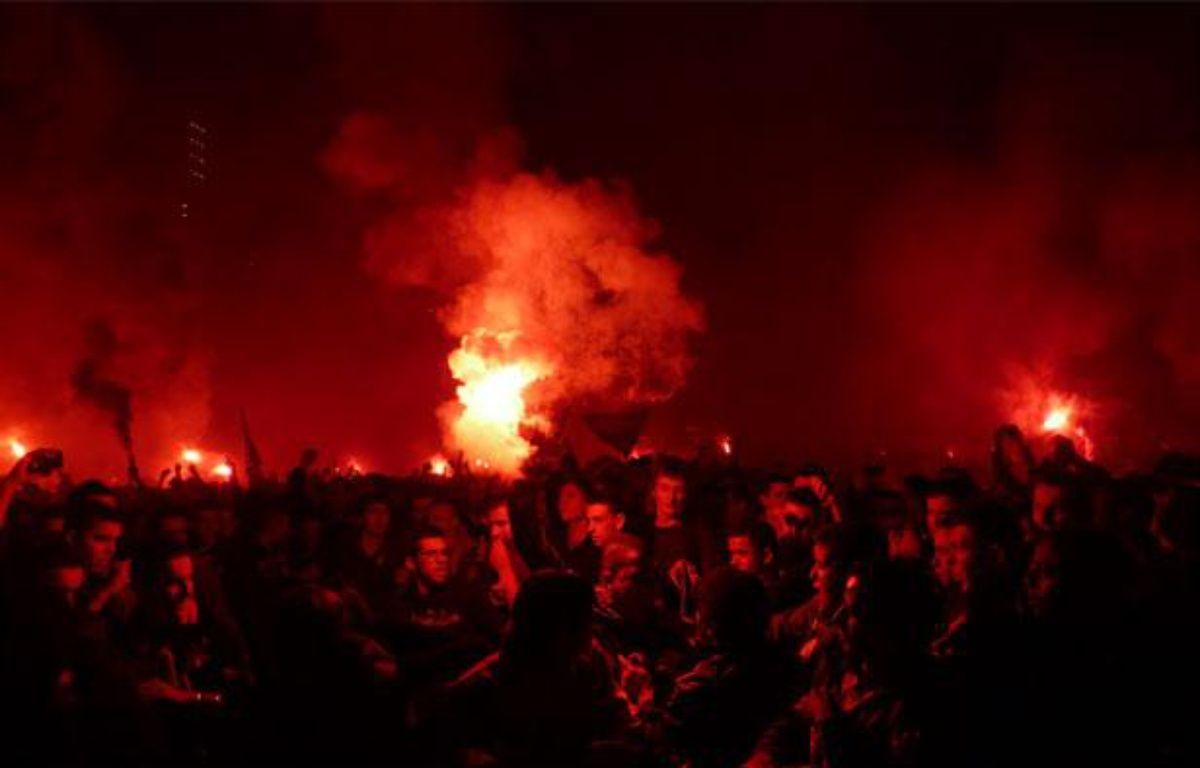 Ambiance de feu place de la Comédie à Montpellier, le 20 mai 2012 – N.KADEN/20Minutes