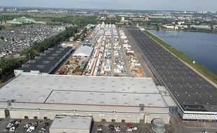 Vue aérienne du Parc des Expositions de Bordeaux.