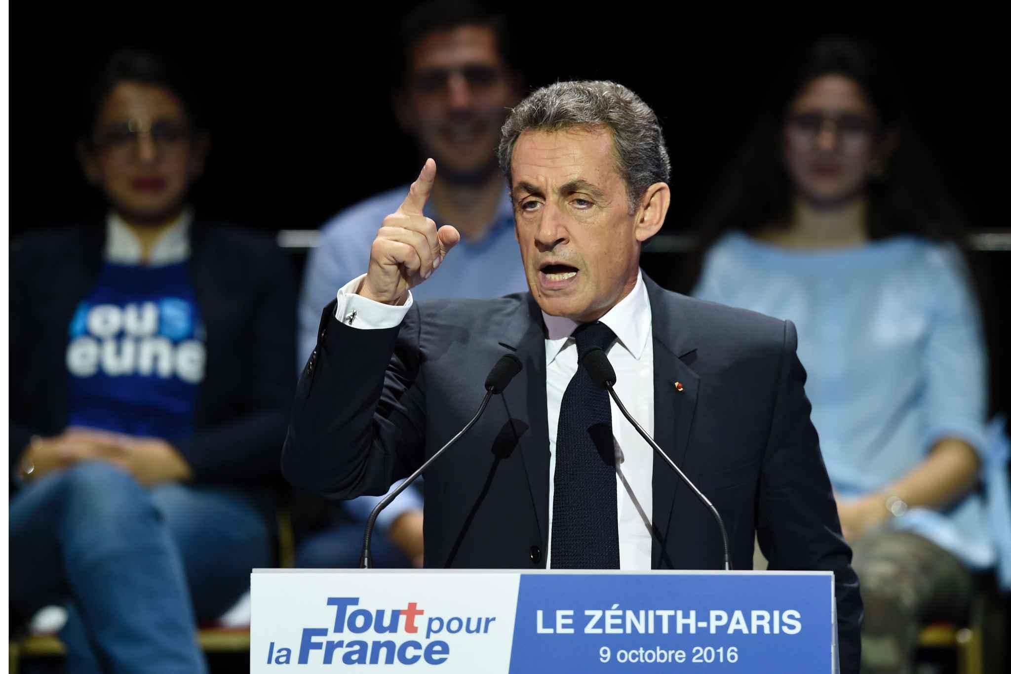 nicolas sarkozy a prononc un discours le 9 octobre 2016 au znith de paris en apras le discours de celle qui