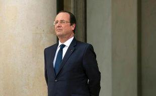 Le président François Hollande à l'Elysée le 19 mars 2014