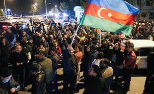Des scènes de liesse en Azerbaïdjan, le 10 novembre 2020.
