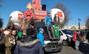 Les égoutiers manifestaient jeudi à Paris contre la réforme des retraites