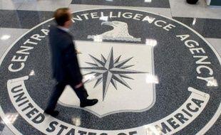Le logo de la CIA au siège de Langley, le 14 août 2008