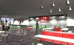 Vue du futur Gür kebab de Lezennes