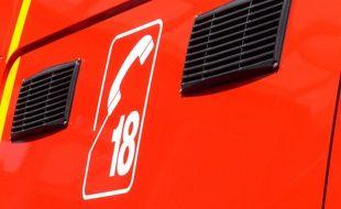 Lyon, le 6 juillet 2015. Illustration d'un véhicule des pompiers du Rhône.