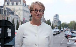 La maire de Rennes Nathalie Appéré, ici le 6 septembre 2018 devant le parking Vilaine, à République.