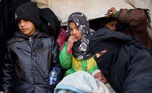 Des civils syriens