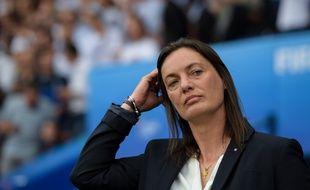 Corinne Diacre, pendant la Coupe du monde en France