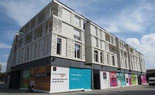 A Nantes, le 15 septembre 2014 - Le carre Feydeau, quartier Bouffay, attend toujours ses premieres boutiques
