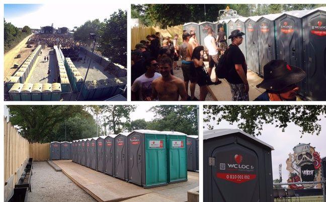 700 sanitaires et douches sont installés sur le festival.
