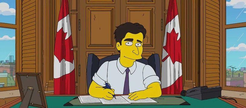 Justin Trudeau dans les «Simpson».