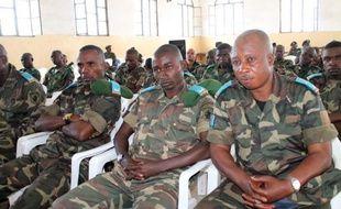 Les militaires accusés de viols, le 5 mai 2014 au tribunal à Goma