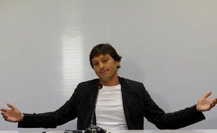 Leonardo lorsqu'il était entraîneur de l'Inter Milan, juste avant de rejoindre le PSG, le 7 juillet 2011.