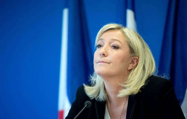 La présidente du Front national Marine Le Pen, lors d'une conférence de presse le 3 juin 2015.