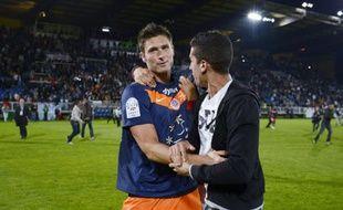 Olivier Giroud à l'issue du match contre Auxerre qui a sacré le club Montpellierain champion de France le 20 mai 2012.