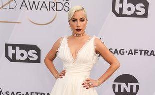 La chanteuse Lady Gaga aux SAG Awards