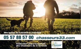 L'affiche de la Fédération de chasse de Gironde.