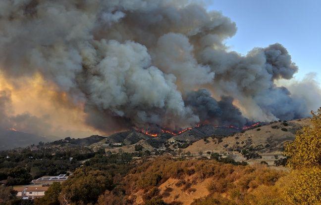 Le Woolsey fire près de Los Angeles.