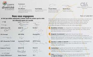 En 2010, la charte de la diversité a été signée par Michel Boyon,  President du Conseil superieur de l'audiovisuel (CSA) et plusieurs médias.