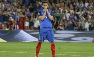 Olivier Giroud lors de France-Albanie, le 15 juin 2016.