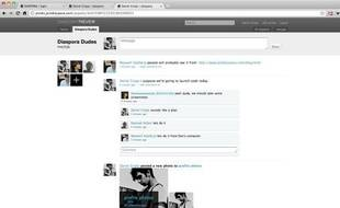 L'interface du réseau social Diaspora