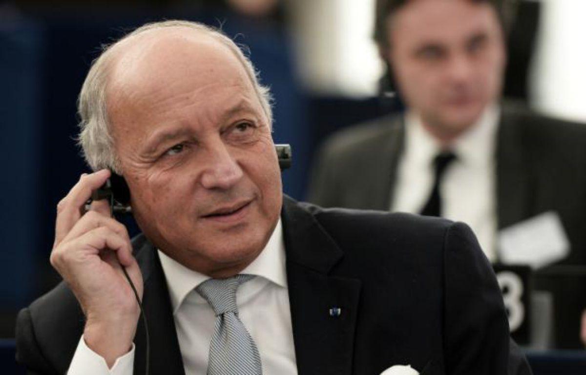 Le ministre français des Affaires étrangères Laurent Fabius participe à un débat sur les résultats de la COP21, au Parlement européen à Strasbourg, le 20 janvier 2016 – FREDERICK FLORIN AFP