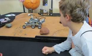 A l'exposition Voyages planétaires