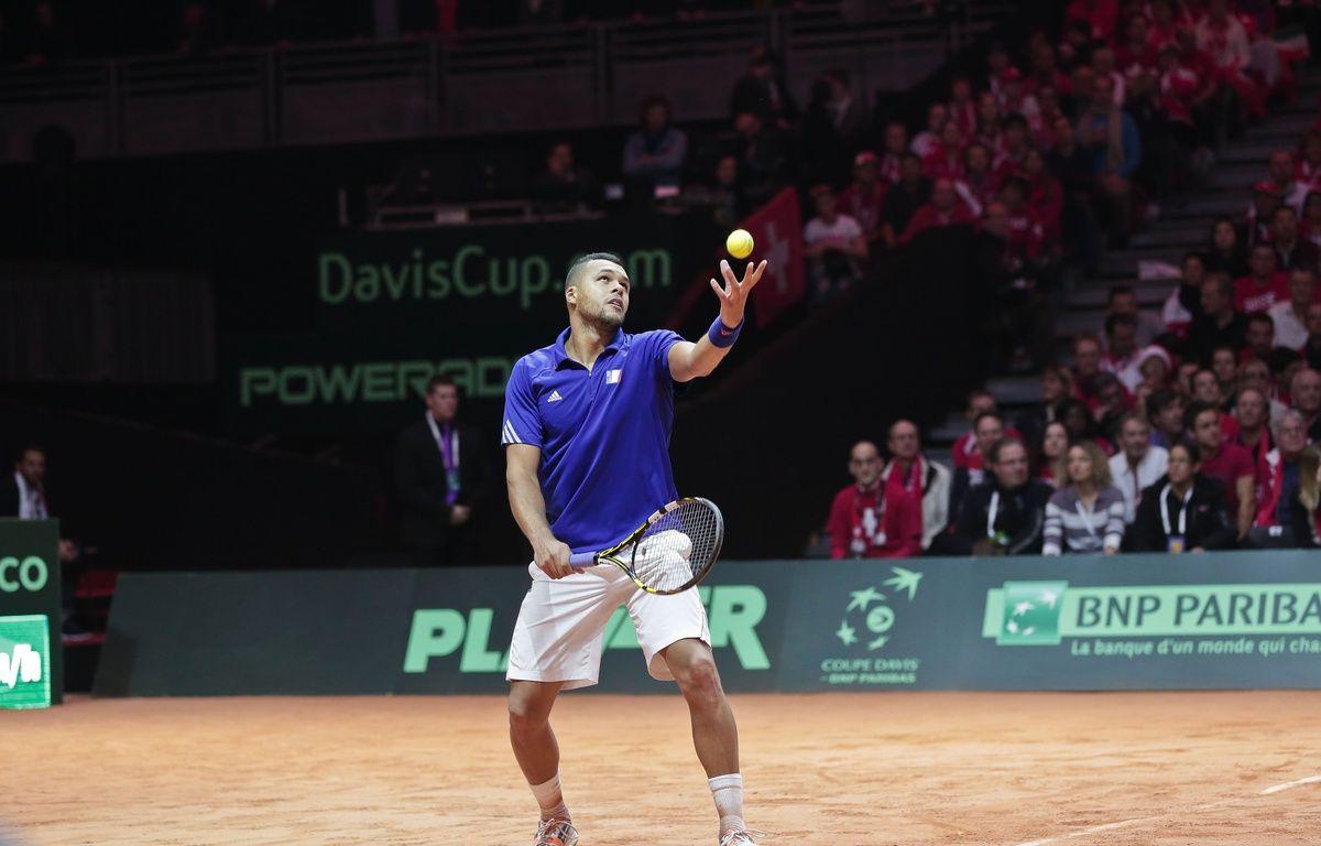 Jo-Wilfried Tsonga en Coupe Davis.  – VANSTEENKISTE STEPHANE/SIPA