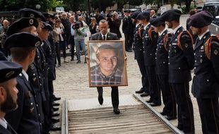 Un portrait d'Arthur Noyer le 7 septembre 2018, jour de ses obsèques