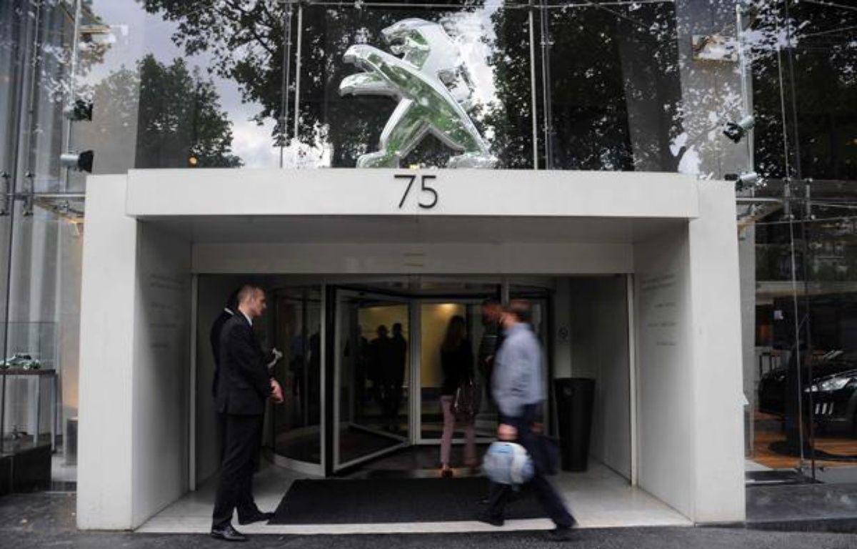 Le siège social de PSA Peugeot Citroën à Paris le 12 juillet 2012. – ANTONIOL ANTOINE/SIPA