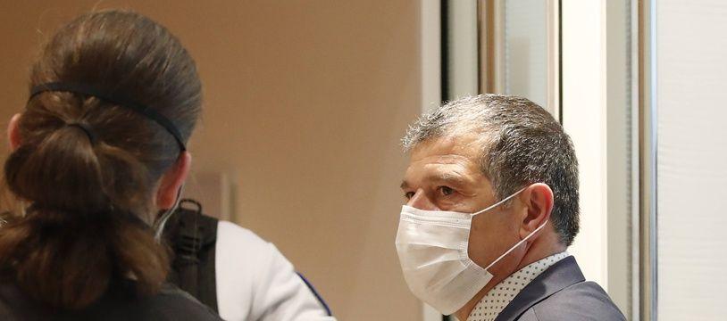 Michel Catalano, le patron de l'imprimerie de Dammartin-en-Goële à l'ouverture du procès des attentats de janvier 2015.
