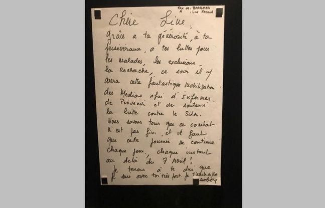Courrier adressé par Barbara à Line Renaud.