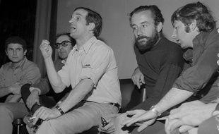Lelouch, Godard, Truffaut, Malle et Polanski, le 18 mai 1968 à Cannes