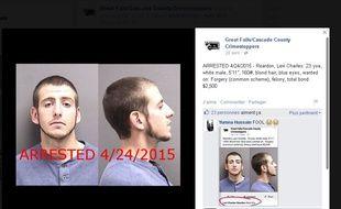 Capture d'écran d'un avis de recherche de Levi Charles Reardon, sur Facebook.