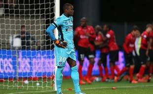 Le gardien Ali Ahamada avec le TFC, lors d'un match de Ligue 1 à Guingamp, le 21 novembre 2015.