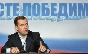 """""""Le président a ses pouvoirs et le Premier ministre a les siens. Ces pouvoirs ont été établis il y a longtemps et personne ne veut les changer"""", a dit M. Medvedev au cours d'une conférence de presse dans la nuit"""