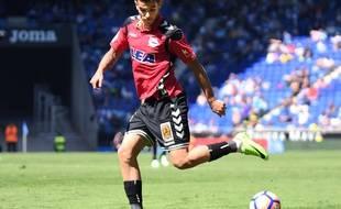 Le jeune défenseur français Théo Hernandez sous les couleurs d'Alaves, le 8 avril 2017.