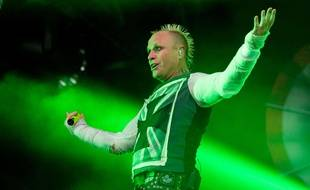 Keith Flint lors d'un concert de Prodigy en juillet 2015.