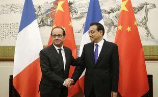 François Hollande et le premier ministre chinois Li Keqiang