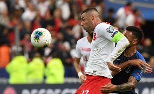 L'attaquant international turc Burak Yilmaz, au Stade de France le 14 octobre 2019.
