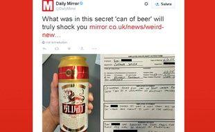 Cette simple canette de bière cache en réalité bien son jeu.