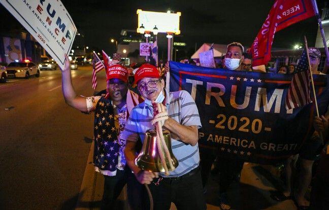 648x415 soutiens president americain donald trump rassembles devant restaurant cubain versailles miami floride 4 novembre 2020