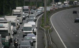 Embouteillage sur le périphérique parisien (photo d'illustration).